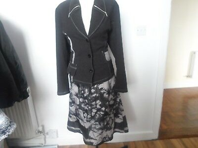 womens designer pardon 2 piece suit size 44 uk  14-16