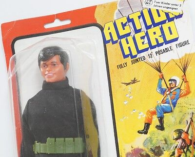 "Action Hero Figur - MOC - Mint On Card - Agent - 12"" - ca. 30cm"