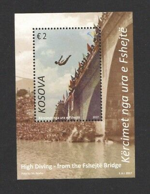 Kosovo 2017 High Drving Fshejte Bridge Souvenir Sheet Of 1 Stamp Mint Mnh Unused