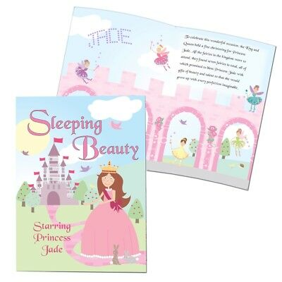 Personalised Sleeping Beauty Story Fairytale Book Girls Childrens Gift AP0512H14