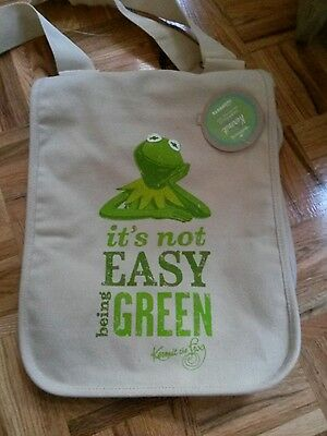 Hallmark Muppets Kermit Carry All Bag it's not easy being green canvas crossbody