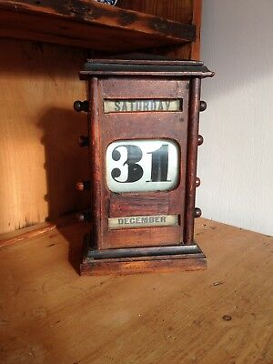 Edwardian  Desk Top Perpetual Calendar working order