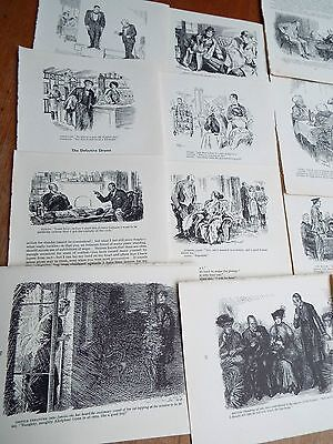 12 Genuine Vintage Black & White Print  Drawings from Mr Punch After Dinner Book