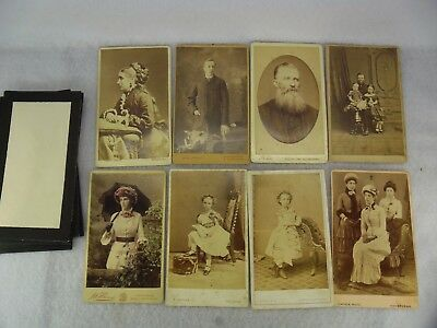 Job Lot of 8 Victorian Real Picture Portraits