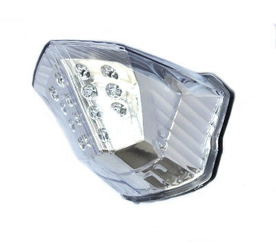 Yamaha FZ6R & XJ6 Integrated LED Taillight; Brake and Turns w/ Clear Lens