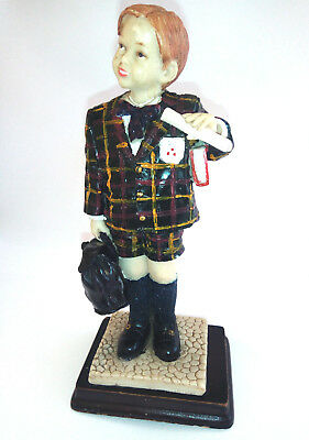 Antique wooden figure hand carved old Young Boy + Spanish&Folk Art - Lovely!