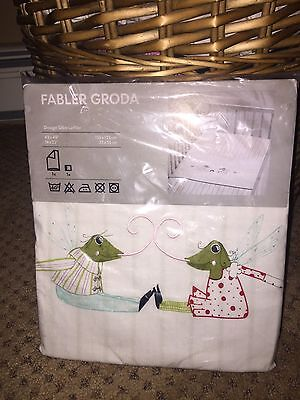 IKEA  FABLER GRODA  Frog Duvet & Case Crib Toddler SEALED  Discontinued