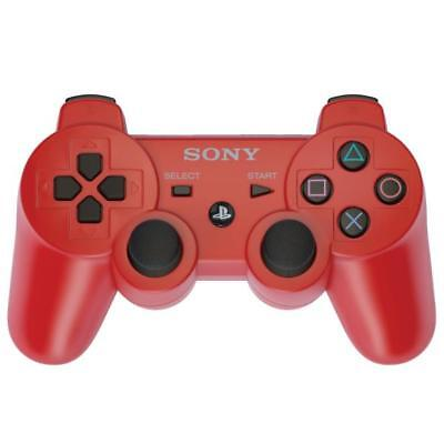 SONY SIXAXIS PLAYSTATION 3 WIRELESS BLUETOOTH PS3 CONTROLLER RED UK Stock