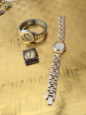 Lot Of Three Ladies Watches Need Batteries