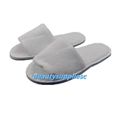 6 pairs Cotton Terry Spa Hotel Slippers Open Toe