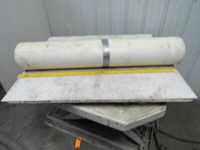 "2-Ply White/Clear Polyurethane Smooth Top Conveyor Belt 51' X 49"" X 0.065"""