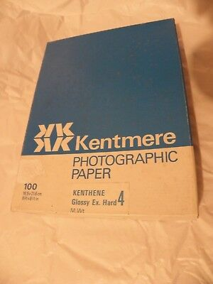 Box of each 100 sheets Kentmere ex.hard 4 & Glossy normal 2 Photographic paper.
