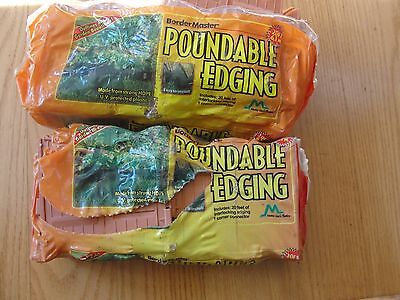 "Master Mark Plastic Garden Border Poundable Garden Yard LAWN Edges 6"" x 20 Foot"