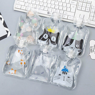 Cute Transparent PVC Hot Water Bag Bottle Relaxing Heat Warm Heat Cold Therapy