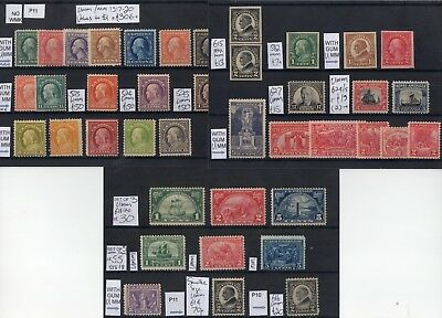 #288 USA Early 20thC MINT on 3x cards c£500-ish