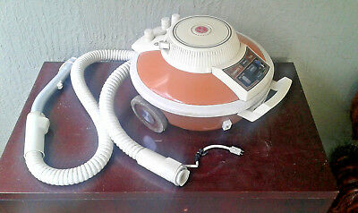 Vintage Hoover Vacuum Cleaner Celebrity II Elite Orange UFO Canister!