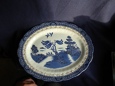 Booths Real Old Willow | Large Oval Platter | 35cm | A8025 | Blue White