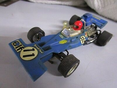 Coche de scalextric Tyrrell-Ford azul ref.C-48 made in spain ver fotos + manual