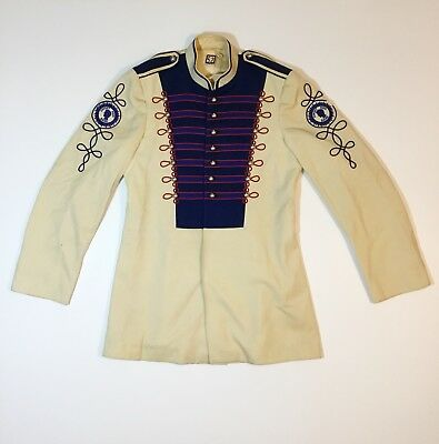 Vintage Marching Band Sgt Peppers Uniform Jacket sz 52 Halloween costume Unique