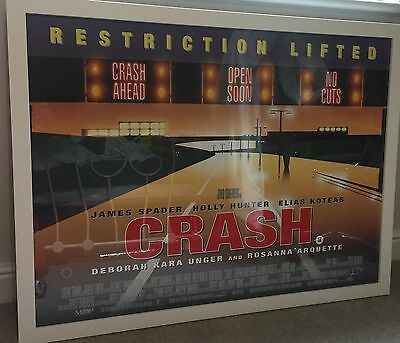 "David Cronenberg - ""Crash"" Movie Poster Framed"