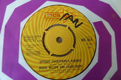 Jackie Wilson & Count Bassie - Uptight (Everything's Alright) 1968 UK 45 MCA