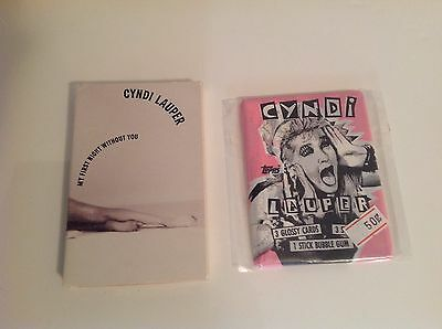 CYNDI LAUPER Uncommon MY FIRST NIGHT WITHOUT YOU Cassette Single & Gum Card Pack