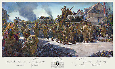 2nd & 3rd Armored Div Band of Brothers James Dietz Art Print with 12 signatures!
