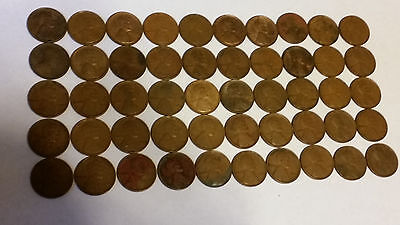 1 Roll Of 1909 P Vdb Philadelphia Lincoln Wheat Cents From Penny Collection 50