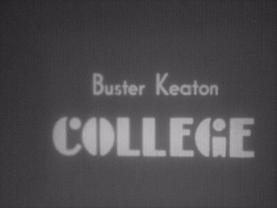 8mm Film College Buster keaton 1200ft B/W Silent Standard 8