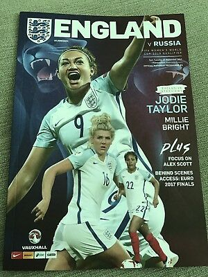 England Women v Russia Women Football Programme (2017) *Game Played 19/09/2017*