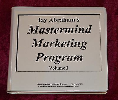 Jay Abraham MASTERMIND MARKETING PROGRAM Volume 1 12 Cassette Tapes COMPLETE