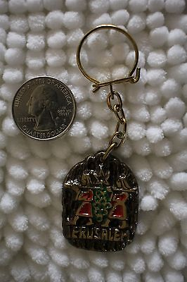 Jerusalem Israel Travel Souvenir Metal Keychain Key Ring #22757