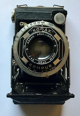 Vintage Six-20 Kodak Model C Art Deco Folding Camera