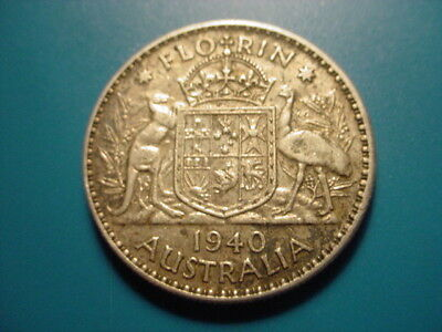 Australia - Silver 1940 Florin In Very Nice Condition