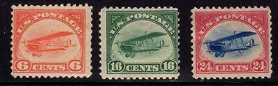 US Stamp: #C1-C3 First Airs Mint Hinged
