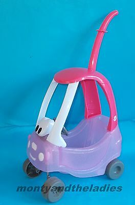 Baby Born Doll Little Tikes Push Along Pink Cosy Coupe Car With Handle