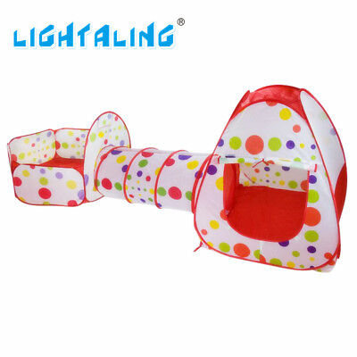 Lightaling Play House Tent Tunnel Pool Tube Teepee Pop Up Baby Tents Toddler Toy