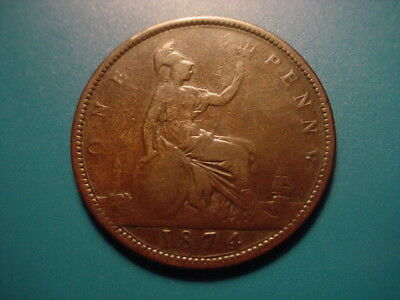 British 1874 Penny In Nice Condition