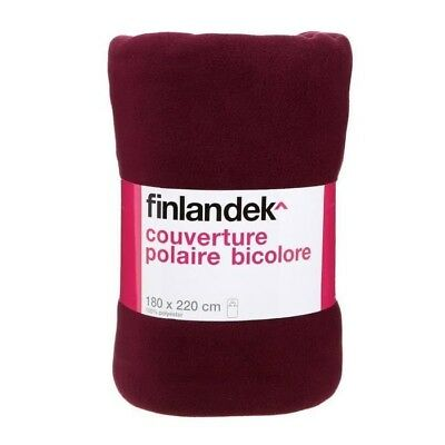 TOUT SIMPLEMENT Couverture polyester - Prune / fuschia