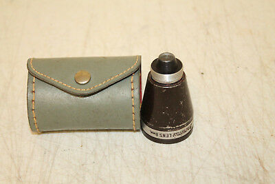 VINTAGE  Gruenex TEL. AUX brownie camera lens 8mm WITH LEATHER CASE