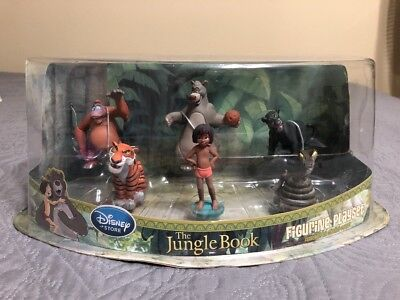 HTF Disney Store The Jungle Book Figurine Playset  Baloo Mowgli Sold Out