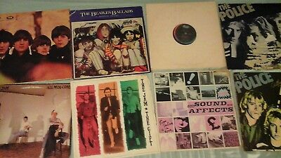 Vinyl LP Records inc The Beatles (For Sale, Ballads, Meet), Jam , Police