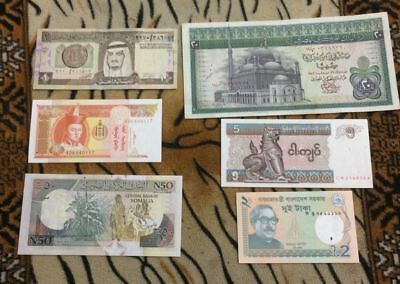{H.M} WORLED BANKNOTE lot 12 - 06 Pcs . DIFFRANT CUNTRY - Mix Condition