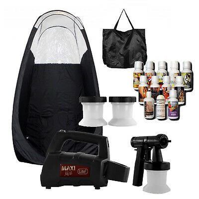 Maximist Lite Plus HVLP Sunless Spraytan kit w BlackTent and Tampa Bay Tan Spray