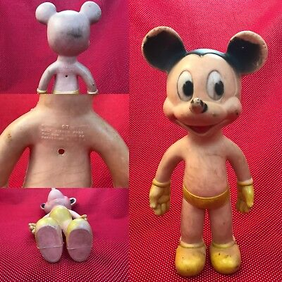 Vintage Squeaking Mickey Mouse - Sun Rubber Co. - Walt Disney Prod.