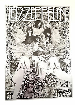 LED ZEPPELIN Madison Square Garden, New York 1973 Steve Harradine poster