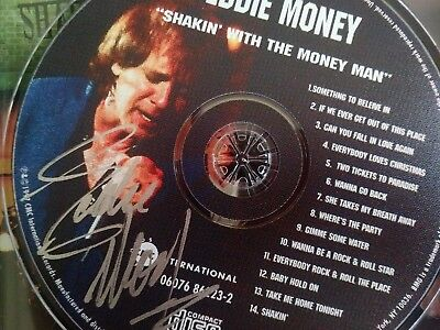 Eddie Money cd signed autograph shakin man