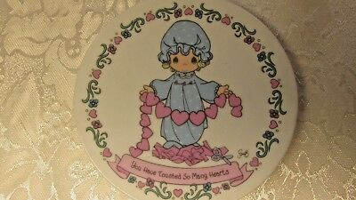 "1992 Precious Moments 4"" Plate  ~Girl~ ""You Have Touched So Many Hearts"""