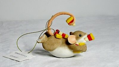 Nib Charming Tails #130455 Resin Fall Halloween Mouse Eating Candy Corn Figurine
