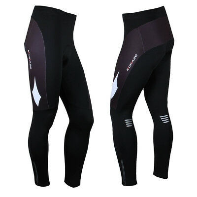 Men's Fleece Thermal Cycling Pants Padded Bike Bicycle Outdoor Sports Tights L